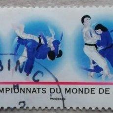 Sellos: 2011. FRANCIA. 4574. CAMPEONATOS DEL MUNDO DE JUDO ORGANIZADOS EN PARÍS. SERIE COMPLETA. USADO.. Lote 244989500