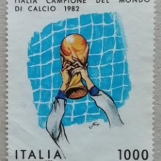 Sellos: 1982. ITALIA. 1542. SELECCIÓN ITALIANA, CAMPEONA MUNDIAL DE FÚTBOL EN MADRID. SERIE COMPLETA. USADO.. Lote 245000990