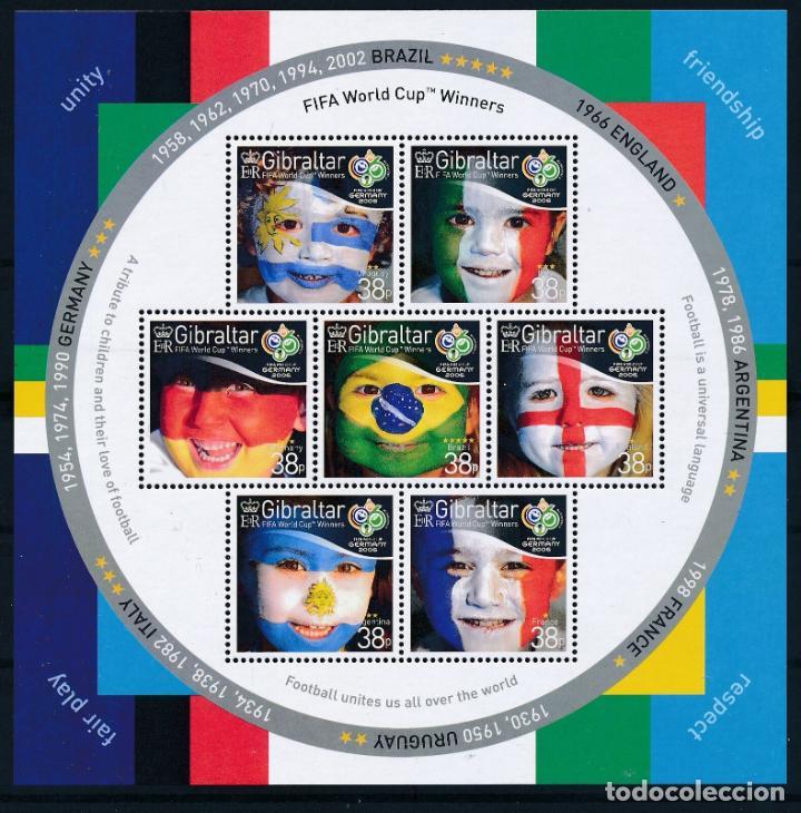 GIBRALTAR 2006 HB IVERT 73 *** COPA DEL MUNDO DE FUTBOL EN ALEMANIA - DEPORTES (Sellos - Temáticas - Deportes)