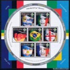 Sellos: GIBRALTAR 2006 HB IVERT 73 *** COPA DEL MUNDO DE FUTBOL EN ALEMANIA - DEPORTES. Lote 245065245