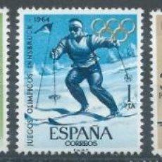 Sellos: 1964. ESPAÑA. EDIFIL 1617/21**MNH. JUEGOS OLÍMPICOS DE TOKYO-INNSBRUCK. DEPORTES/SPORTS.. Lote 245996235