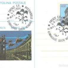 Sellos: 1984. ITALIA/ITALY. MATASELLOS/POSTMARK. VI GIMNASIADA - JUEGOS MUNDIALES ESCOLARES. SCHOOL GAMES.. Lote 246000560