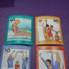 Sellos: SELLO ALEMANIA R. FEDERAL NUEVO/1975/PRO/JUVENTUD/DEPORTES/JUEGOS/REMO/GIMNASIA/VOLEIBOL/BALONCESTO/. Lote 246079950