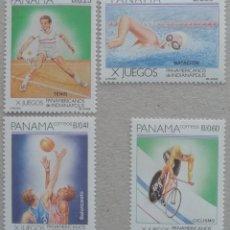 Sellos: 1987. PANAMÁ. 1026 / 1030. JUEGOS PANAMERICANOS ORGANIZADOS EN INDIANÁPOLIS (EEUU). NUEVO.. Lote 246095440