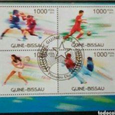 Sellos: DEPORTES HOJA BLOQUE DE SELLOS USADOS DE GUINEA BISSAU. Lote 246220560