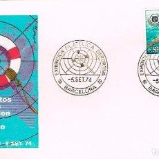 Sellos: EDIFIL 2202, CAMPº DEL MUNDO SALVAMENTO Y SOCORRISMO, PRIMER DIA ESPECIAL EXPO DEPORTIVA, 5-9-1974. Lote 246931405