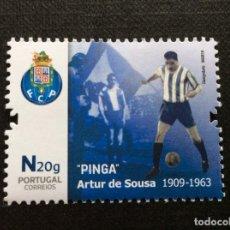 Sellos: PORTUGAL Nº YVERT F 4520*** AÑO 2019 FUTBOL. ARTUR DE SOUSA, PINGA. Lote 249086725