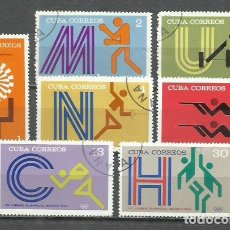 Sellos: 2796-SERIE COMPLETA 1972 CUBA JUEGOS OLIMPICOS MUCHICH Nº 1594/600 DEPORTES SPORT.. Lote 251714535