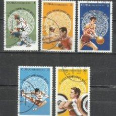 Sellos: 2565-CUBA SERIE COMPLETA DEPORTES VII JUEGOS PANAMERICANOS MEXICO 1975 Nº 1867/71. Lote 252374275