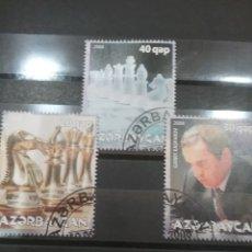 Timbres: SELLO ACERBAYAN MTDOS/2008/AJEDREZ/FIGURAS/CABALLO/ALFIN/REY/JUEGO/DEPORTE/GARRY/KASPAROV/DEPORTE. Lote 252770915