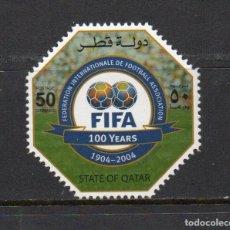 Sellos: SERIE NUEVA ** MNH DE QATAR -CENTENARIO DE LA FIFA-, AÑO 2004. Lote 253880200
