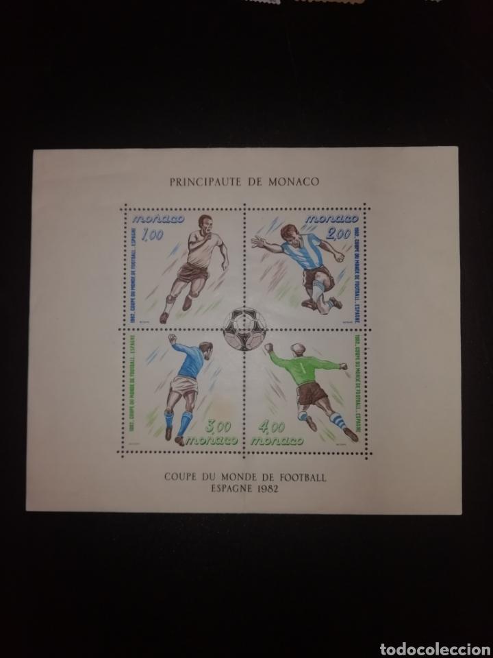 HOJA BLOQUE. PRINCIPAUTE DE MÓNACO. COUPE DU MONDE DE FOOTBALL ESPAGNE 1982 (Sellos - Temáticas - Deportes)