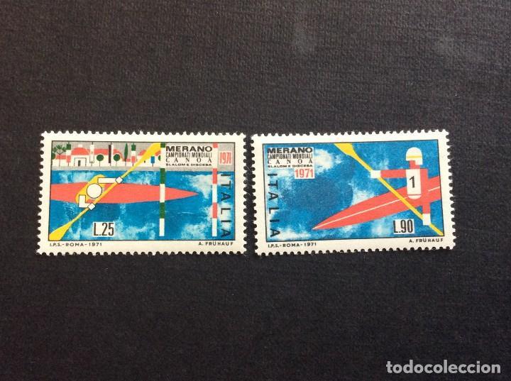 ITALIA Nº YVERT 1076/7** AÑO 1971. CAMPEONATO DEL MUNDO DE PIRAGUISMO. CON CHARNELA (Sellos - Temáticas - Deportes)