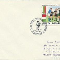 Sellos: 1994. RUMANIA/ROMANIA. MATASELLOS/POSTMARK. C.M. FÚTBOL USA. RUMANIA-USA. FOOTBALL WORLD CUP.. Lote 261924305