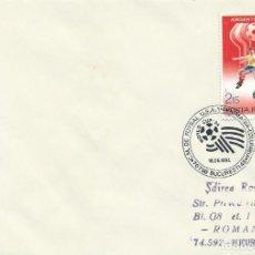Sellos: 1994. RUMANIA/ROMANIA. MATASELLOS/POSTMARK. C.M. FÚTBOL USA. RUMANIA-COLOMBIA. FOOTBALL WORLD CUP.. Lote 261949355