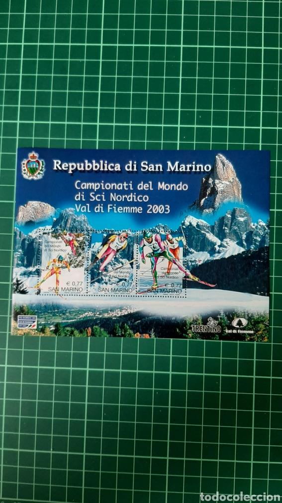 DEPORTES EKI NORDICO SAN MARINO 2003 HOJA BLOQUE NUEVO YVERT 34 FILATELIA COLISEVM VER MIS LOTES (Sellos - Temáticas - Deportes)