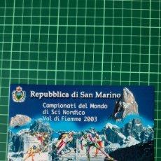 Sellos: DEPORTES EKI NORDICO SAN MARINO 2003 HOJA BLOQUE NUEVO YVERT 34 FILATELIA COLISEVM VER MIS LOTES. Lote 262044430