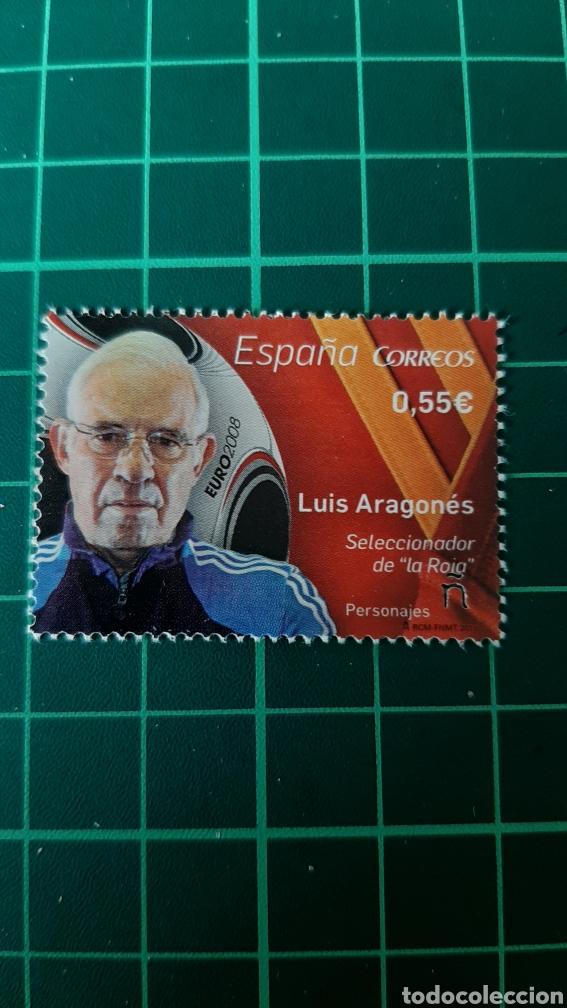 ESPAÑA 2015 LUIS ARAGONÉS FÚTBOL DEPORTES ESPAÑA EDIFIL 4962 NUEVA O USADA SOLICITA FILATELIA COLISE (Sellos - Temáticas - Deportes)