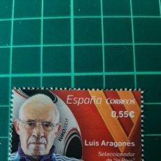 Sellos: ESPAÑA 2015 LUIS ARAGONÉS FÚTBOL DEPORTES ESPAÑA EDIFIL 4962 NUEVA O USADA SOLICITA FILATELIA COLISE. Lote 262058305