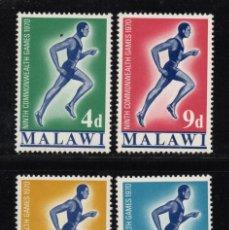 Sellos: MALAWI 128/31** - AÑO 1970 - JUEGOS DEPORTIVOS DE LA COMMONWEALTH. Lote 262260875