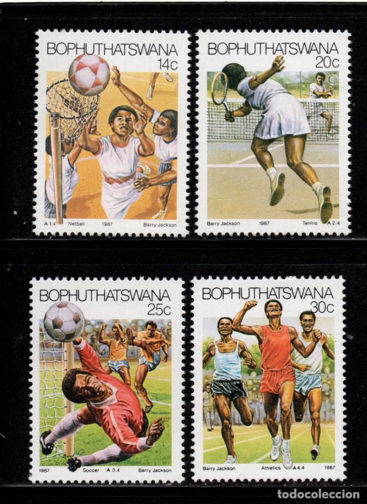 BOPHUTHATSWANA 181/84** - AÑO 1987 - DEPORTES - BALONCESTO - TENIS - FUTBOL - ATLETISMO (Sellos - Temáticas - Deportes)