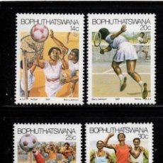 Sellos: BOPHUTHATSWANA 181/84** - AÑO 1987 - DEPORTES - BALONCESTO - TENIS - FUTBOL - ATLETISMO. Lote 262264530