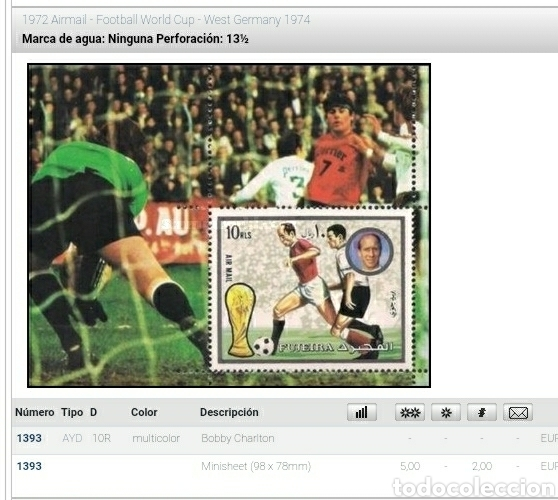 Sellos: HB (2) Fujeira (E.A.U) mtdo/1972/copa/mundial/futbol/campeonato/Alemania/selecciones/deporte/juegos - Foto 2 - 262279205