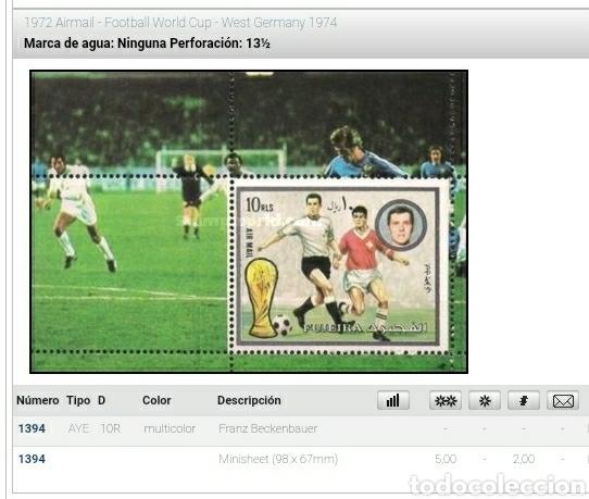 Sellos: HB (2) Fujeira (E.A.U) mtdo/1972/copa/mundial/futbol/campeonato/Alemania/selecciones/deporte/juegos - Foto 3 - 262279205