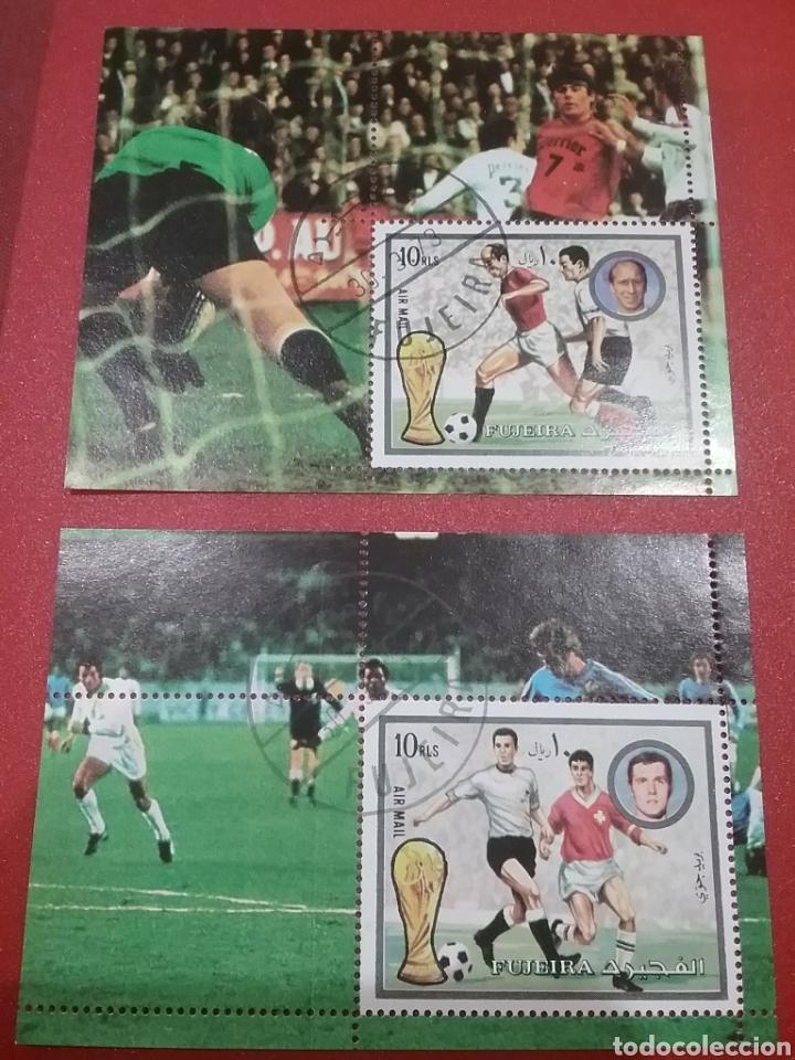 HB (2) FUJEIRA (E.A.U) MTDO/1972/COPA/MUNDIAL/FUTBOL/CAMPEONATO/ALEMANIA/SELECCIONES/DEPORTE/JUEGOS (Sellos - Temáticas - Deportes)