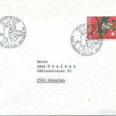 Sellos: 1974. SUIZA/SWITZERLAND. MATASELLOS/POSTMARK. 100 AÑOS FEDERACIÓN DEPORTIVA OBRERA SATUS. YVERT 948.. Lote 263063325