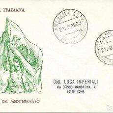 Sellos: 1963. ITALIA/ITALY. SPD/FDC. YVERT 893. JUEGOS DEL MEDITERRÁNEO/MEDITERRANEAN GAMES. NÁPOLES.. Lote 263069195