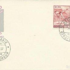 Sellos: 1957. ISLANDIA/ICELAND. SPD/FDC. YVERT 272/73. LUCHA/FIGHTING. SALTOS/DIVING.. Lote 263070705