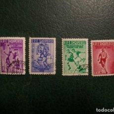 Francobolli: /16.05/-LIQUIDACION-ALBANIA-1959-SERIE COMPLETA EN USADO/º/. Lote 263180865