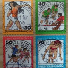 Sellos: ALEMANIA BERLIN 1976. YOUTH: YOUTH TRAINED FOR OLYMPIA. Lote 263205940