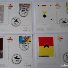 Sellos: TARJETAS COOB 92 EMISION SELLOS PREOLIMPICOS, OLIMPICOS Y PRIMER DIA C. BARCELONA 92. VER DESCRIPCIO. Lote 265787984