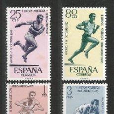 Timbres: (L104A-TC) - ATLETISMO - ESPAÑA 1962 - JUEGOS IBEROAMERICANOS. Lote 267456989