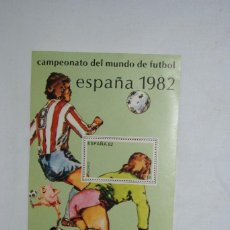 Sellos: FUTBOL , ESPAÑA 1982 , HOJA CON SELLO .. Lote 268871809