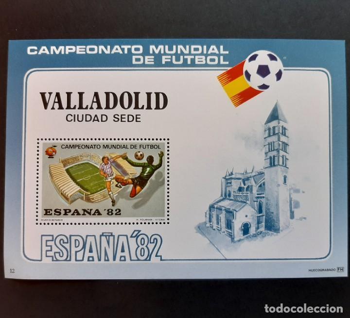 SELLOS ESPAÑA - CAMPEONATO MUNDIAL DE FUTBOL - SEDE VALLADOLID - HOJA FOURNIER (Sellos - Temáticas - Deportes)