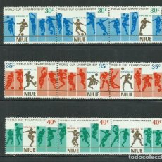 Sellos: NIUE 1981 IVERT 346/54 *** COPA DEL MUNDO DE FUTBOL - ESPAÑA-82 - DEPORTES. Lote 275919943