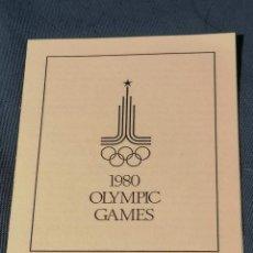 Sellos: OLIMPIADAS RUSIA SELLOS MOSCU 1980 LLAMA OLIMPICA CON SELLOS SET FILATELICO. Lote 276413003