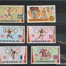 Sellos: OLIMPIADA DEPORTES MUNICH 1972 SELLOS LOTE LIBERIA EN USADO. Lote 276628483