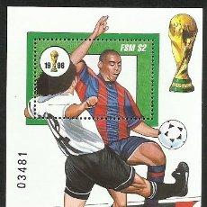 Sellos: MICRONESIA 1998 HOJA BLOQUE SELLOS MUNDIAL DE FUTBOL FRANCIA 98 - FIFA. Lote 277056163