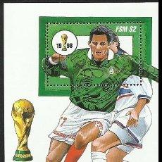 Sellos: MICRONESIA 1998 HOJA BLOQUE SELLOS MUNDIAL DE FUTBOL FRANCIA 98 - FIFA. Lote 277056213