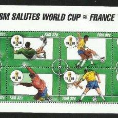 Sellos: MICRONESIA 1998 HOJA BLOQUE SELLOS MUNDIAL DE FUTBOL FRANCIA 98 - FIFA. Lote 277056283