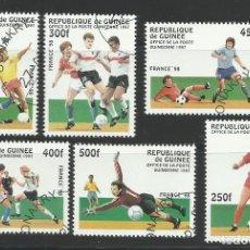 Sellos: GUINEA 1998 LOTE SELLOS MUNDIAL DE FUTBOL FRANCIA 98. Lote 277067848