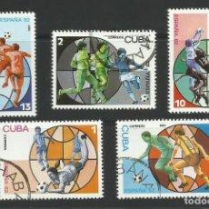 Sellos: CUBA 1981 LOTE SELLOS COPA MUNDIAL DE FUTBOL ESPAÑA 82 1982. Lote 277069508