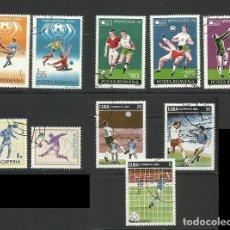 Sellos: LOTE SELLOS TEMATICA COPA MUNDIAL DE FUTBOL ARGENTINA 78 - ALEMANIA 74 - ESPAÑA 82. Lote 277073623
