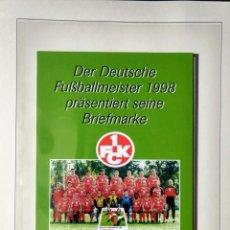Sellos: ALEMANIA 1998 ESTUCHE PRESENTACION CON BLOQUE SELLOS CLUB DE FUTBOL KAISERSLAUTERN. Lote 277224953