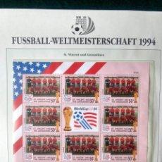 Sellos: ST VINCENT & GRENADINES 1994 HOJA BLOQUE SELLOS COPA MUNDIAL DE FUTBOL EEUU USA 94 - FIFA ESPAÑA. Lote 277230488