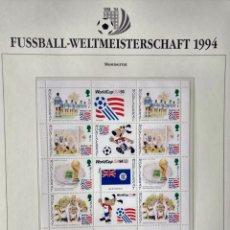 Sellos: MONTSERRAT 1994 HOJA BLOQUE SELLOS COPA MUNDIAL DE FUTBOL EEUU USA 94 - FIFA. Lote 277231403